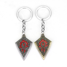 World of Warcraft Tribal Banner Flag Keychain Key Ring Vintage WOW Warcraft Chaveiro Llaveros Key Holder(China)