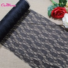 Embroidered Table Runner 1 Roll 22M*30CM Lace Table Runner for Wedding Decoration Modern Table Cloth Home Party Supplies 3Colors