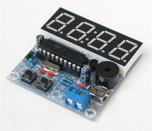 DIY electronice suite 4 four single-chip digital electronic clock led digital clock electronic diy kit(China)