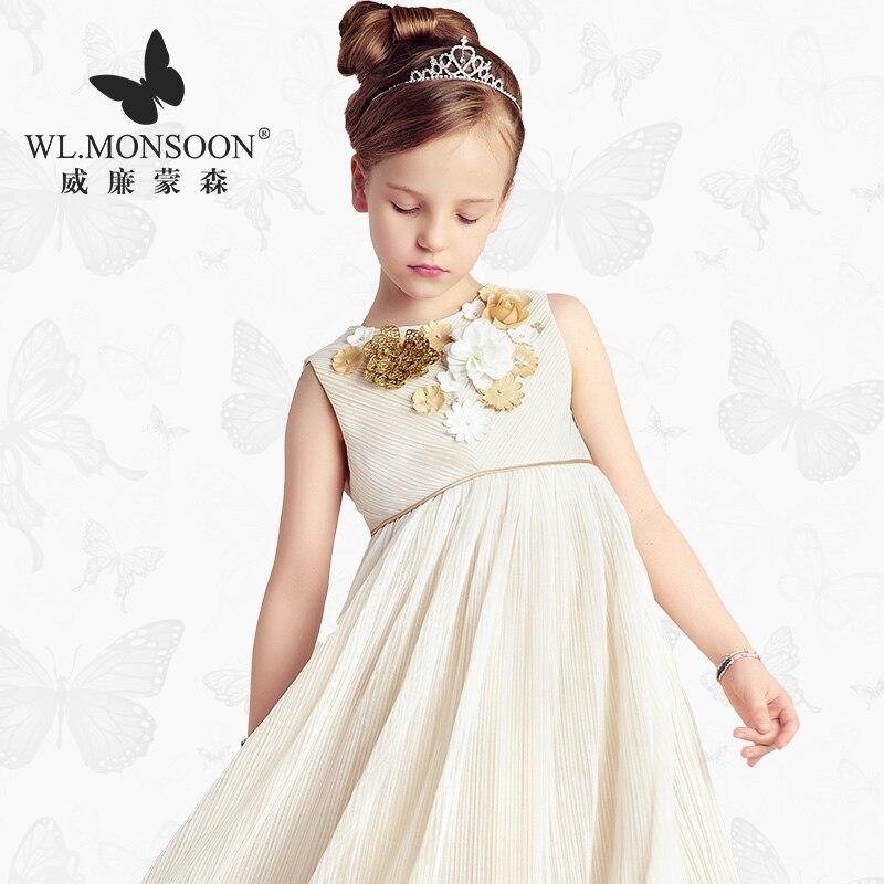 monsoon Girls Dresses Summer  Baby Girls Clothes Kids Dresses Lemon Print Princess Dress Girl Party Cotton Children Dress 15<br><br>Aliexpress