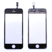 Cheap Black / White Touch Screen Digitizer Panel Display Front Glass Lens for iPhone 5S Replacement Repair Part Free shipping
