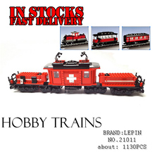 Lepin Technic 21011 1130Pcs Custom Factory Hobby Train Set Building Blocks Bricks Educational Toys for Children compatible 10183(China)