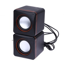 2017 USB 3.5mm Audio Speaker Adapter Stereo Mini PC Speaker Subwoofer For Desktop Laptop Notebook Tablet Cell Phone