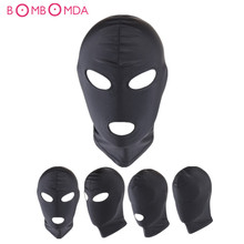 Buy Fetish Slave BDSM Bondage Restraints Sex Mask Mouth Eye Open Head Harness Blindfold Slave Games Adult Products Couples