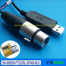 win8 10 ftdi usb rs485 xlr 5p uploader cable for update firmware and test of SGM lighting equipment