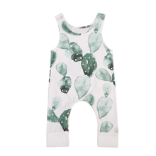 Summer 2017 New Infant Baby Girl Boy Cactus Printed Romper Sleeveless Jumpsuit Playsuit Outfit