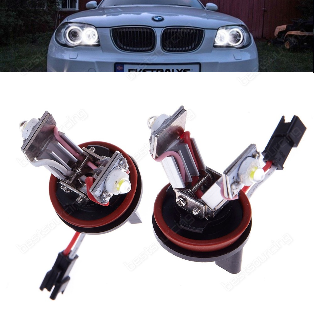 LED Angel Eyes Halo Light Error Free H8 Bulb   E92 E93 E90 E60 E82 E87 E70 E71(CA115)<br>