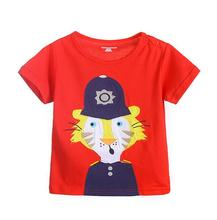 6pcs/lot New Baby girls T shirts kids children short sleeve tiger singlet boys tops tee shirts 18M-6T sylvia 545350560781(China)