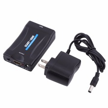 1080P SCART To HDMI Converter Video Audio Signal Adapter HD With Charging Adapter