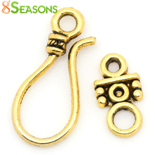 8SEASONS Toggle Clasps golden tone 24x11mm 14x7mm,50 Sets(B28930)