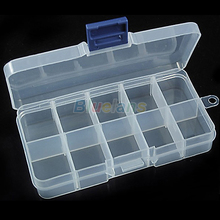 New Storage Case Box 10 Compartment for Nail Art Tips Sundeies Jewelry 0228 33QZ