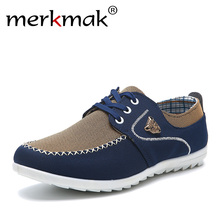 2018 new brand canvas casual men shoes british loafers flats mens masculino comfort driving shoes men's flat shoes size 39-46(China)