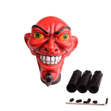 Personalized Red Devil Satan Skull Gear Stick Shift Knob for Automatic Manual Shifter Knobs Car Truck Styling