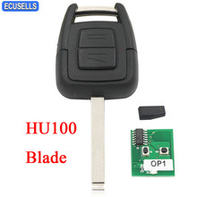 2 Button Remote Key & Transponder ID40 Chip for Vauxhall for Opel Astra Vectra Zafira Omega Frontera 433.92MHz HU100 Uncut Blade(China)