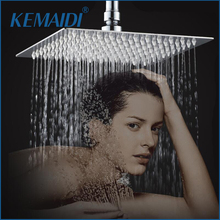 Free Shipping 8 inch Square Stainless Steel Ultra-thin Showerheads Rainfall Shower Head Rain Shower Without Includes Shower Arm