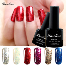 Saroline brand Diamond Glitter Led UV Soak Off vernis semi permanent Long Lasting lucky Color Nail Polish Gel Varnish