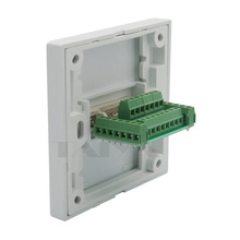 DVI wall plate with back side screw connection