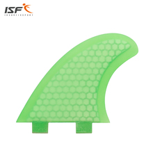 Free Shipping Green Honeycoomb Fiberglass Fcs Surfboard Fins/Surf Fins/Quad fins/Four pieces fin