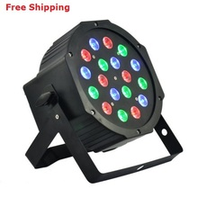 18*3W Led Stage Light High Power RGB LED Par Can With DMX512 Flat DJ Disco Strobe for Home Party Wedding Bar