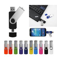 10Pcs/lot  free custom logo Usb2.0 OTG USB flash drive for SmartPhone 8G 16G 32G 64G Pendrives High speed pen drive free package