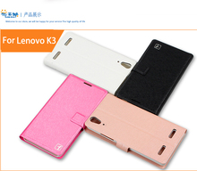 New For Lenovo K3 Case Hight Quality Cell Phone Leather Case Cover For Lenovo K3 Black/Rose Red/Gold With Card Holder