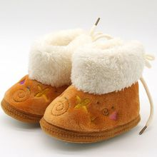 Lovely Winter Warm Baby Shoes Soft Bottom Non-slip Boots Toddler Shoes First Walkers Newborn Boys Girls Footwear H2