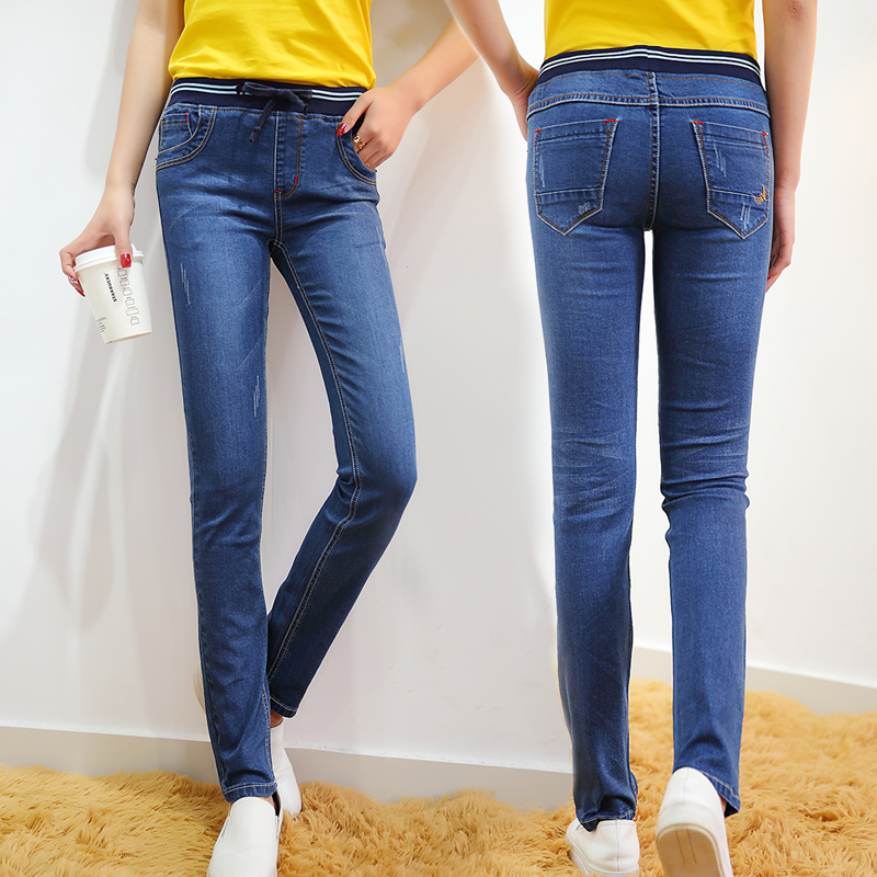 Denim Pants spring Jeans Female Stretch in Waist Jeans Feet pants autumn Denim Pants new  Slim in waist Tether small feet jeansОдежда и ак�е��уары<br><br><br>Aliexpress