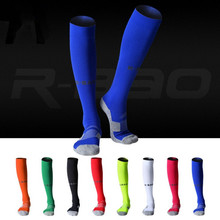 R-BAO high Quality Thicken Combed Cotton Towel, Above Knee Tube Durable Stockings Sport Chaussette Football Soccer Socks