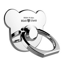 3D Bear 360 Degree Finger Ring Metal Universal Mobile Phone Stand Holder for iPhone 6S 7 Plus Car Mount Stand