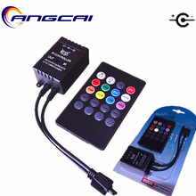 Angcai 20 KEYS Music activated Remote IR Controller Sound Sensor For 3014 3528 2835 5050 RGB LED Strip Light DC5.5*2.1MM 12V 6A
