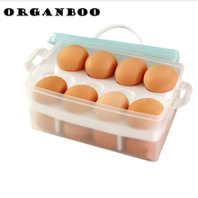 1PCS Kitchen Portable Double Layer Container for Egg Storage Box Box Organizer Refrigerator Storing 24 Eggs Outdoor Organizer