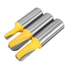 High Hardness New Arrival Excellent Quality 3 Core Box Router Bit Set 1/2 inch Shank U-shaped Woodworking Chisel Cutter(China)