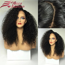 180%Density Curly Glueless Silk Top Full Lace Wig Brazilian Virgin Hair Silk Top Lace Front Wigs For Black Women Silk Base Wigs