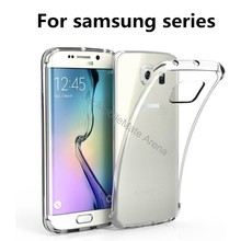 For Samsung Galaxy A5 A3 A7 2016 2017 J5 J3 J7 S7 S6 Edge Case Cover Transparent Clear Soft Tpu Silicone Back Protective Coque