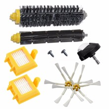 Castor wheels Filters Beater & Bristle Brush Side Brush 6 armed Pack Big Kit for iRobot Roomba 700 Series 760 770 780 Free Post(China)