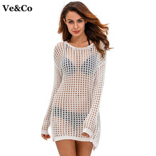 Pareo Beach Wear Sexy Bikini Cover Up Hollow Cotton Beach Cover Ups Swimwear Women Robe De Plage 2018 Summer Swimsuit Cover Ups(China)