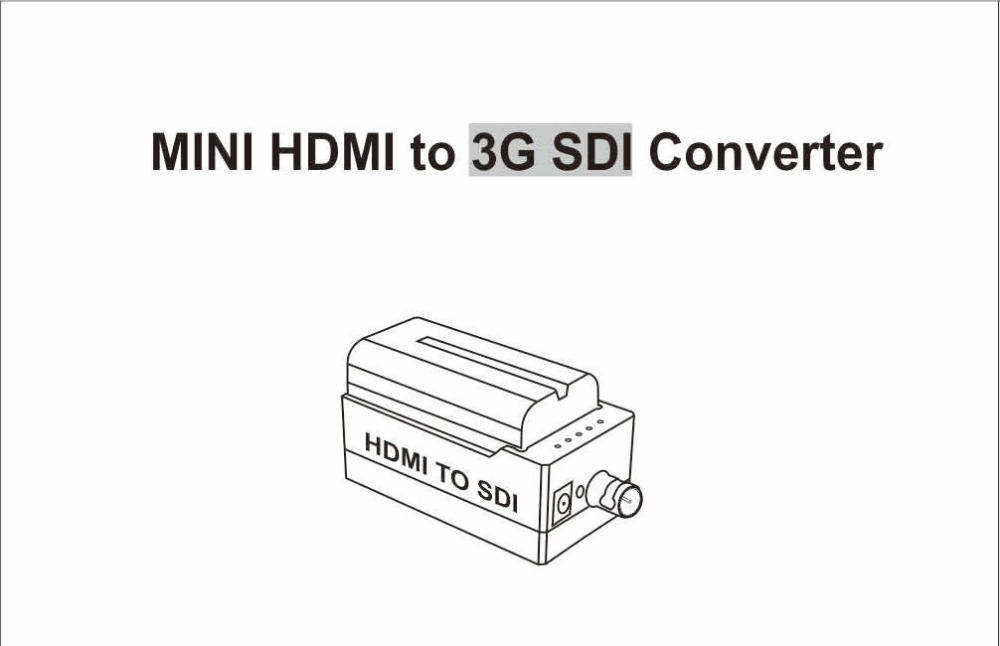 MiraBox Design Battery Converter HDMI to SDI Adapter SD HD-SDI 3G-SDI Multimedia 1080p HD Video Converter Portable Mini Size (2)