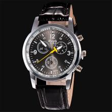 2017 Newly Designed Fashion High Quality Luxury Fashion Crocodile Faux Leather Mens Analog Watch Wrist Watches Gift 324 Z1026(China)