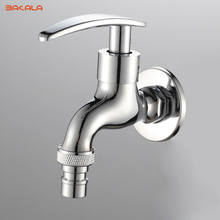 BAKALA Chrome finished Bibcock, Cold Tap, Washing Machine Faucet, Toilet Bibcock, Copper Bibcock,Tap,Garden faucet(China)
