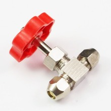 new! Tube OD 8mm Nickel-Plated Brass Plug Needle Valve(China)