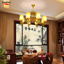 New Chinese l chandelier living room lights Nordic American modern imitation retro hotel tea room bedroom restaurant chandeliers(China)