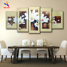 Thick Texture ! Real Hand Painted Modern Flower  Oil Paintings Wall Art ,Group  Painting On Canvas Art Gift No Framed  JYJHS017