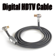 1.5m Radio Frequency Line RF Cable Digital TV HD AV Signal Wire Audio Vidio Cables Male-Male