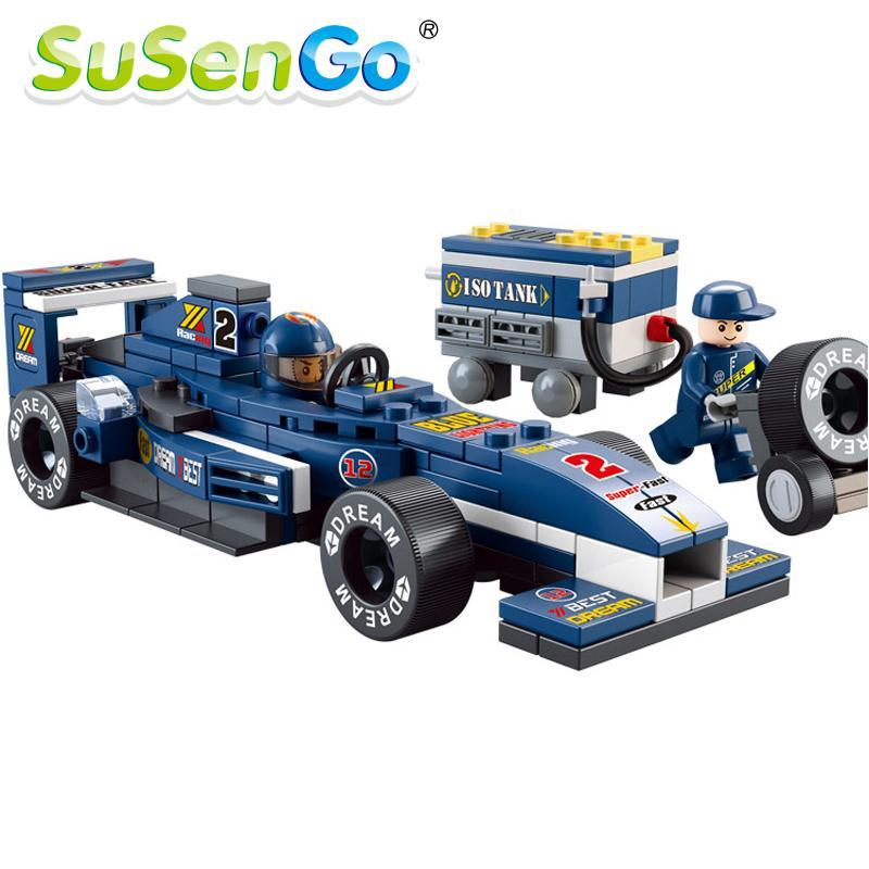 SuSenGo Racing Sports Car Series with Oil Tank Building Block Sets 196 pcs DIY Brick boy toy<br><br>Aliexpress