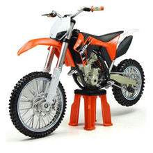 Scale 1:12 Alloy Cross-country Motorcycle, Diecast & ABS Mountain Bike, Car Toy For Boys, Simulation Dinky Toys, Kids Juguetes