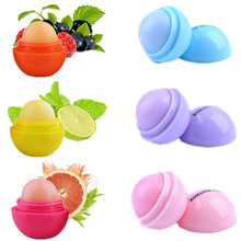 Special Offer Fruit Flavor Round Ball Lip Balm Natural Plant Organic Lipstick Embellish Chapstick Moisturizer Lipbalm Lips Care(China)