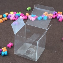 Wholesale Plastic PVC box 5*5*5cm Clear Packing Gift Box Candy Boxes,Wedding Box,transparent Jewelry Displays for chocolate/Toy