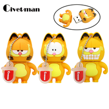 Civetman Pen Drive Cartoon Garfield cat 4GB 8GB 16GB 32GB 64GB Usb Flash Drive Memory Stick Pendrive Pendriver Mini Gifts