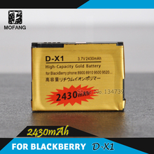 high capacity D-X1 2430Mah Gold Battery for BlackBerry Curve 8900,Storm 9500 9530,Storm2 9520 9550,Tour 9630,Free shipping 2pcs