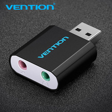 Vention USB Sound Card External 3.5mm Adapter USB to Microphone Speaker Aux Audio Card for PS4 Pro Computer Laptop Sound Card(China)